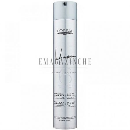 L'Oréal Professionnel Хипоалергенен професионален лак за коса c лека фиксация 500 мл.Infinium Pure Soft hairspray