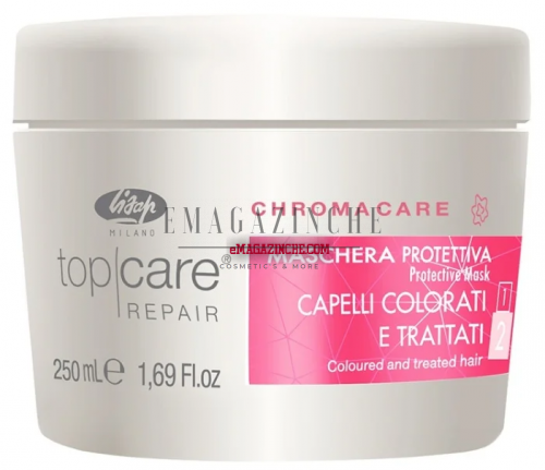 Lisap Защитна маска за боядисана или третирана коса 250 мл.Top Care Chroma Care Protective Mask for Colored & treated hair/Mak